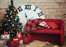 New year and Christmas Interior Studio Stock Photography