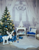 New year and Christmas Interior Studio Royalty Free Stock Image