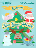 New Year and Christmas Kids Party Royalty Free Stock Photos