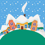 New Year and Christmas landscape in the daytime Royalty Free Stock Image