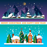 New Year and Christmas landscapes Royalty Free Stock Photo