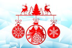 Free New Year, Christmas Laser Cutting Templates. Holiday Decorations In 2019 On An Icy Background Deer, Winter Trees Stock Photos - 131261953