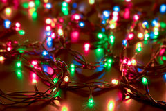 New Year and Christmas lights background Royalty Free Stock Images