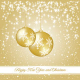 New year and Christmas luxury card Royalty Free Stock Photo