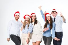 New Year or Christmas party. stock photography
