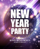 New year and Christmas party poster template. Vector illustration EPS10 Royalty Free Stock Photography