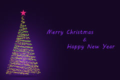New Year and Christmas postcard Stock Images