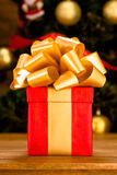 New Year and Christmas present or gift Stock Photo