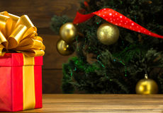 New Year and Christmas present or gift Royalty Free Stock Photography