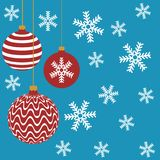 New year christmas balls vector illustration royalty free illustration