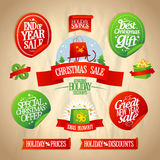 New year and Christmas sale designs collection. Royalty Free Stock Photos