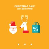 New Year Christmas sale let's go shopping design template for your business Royalty Free Stock Images