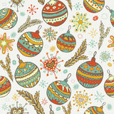 New year Christmas seamless pattern Royalty Free Stock Photo