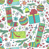 New year Christmas seamless pattern Royalty Free Stock Image