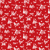 New Year and Christmas seamless pattern, with Ho Ho Ho hand drawn letters, retro, vintage Seamless Pattern. Background Vector Illu Royalty Free Stock Photography