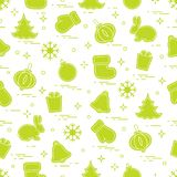 New Year and Christmas seamless pattern. Winter holidays. Design for banner, poster or print Royalty Free Stock Photos