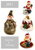 New Year and Christmas set for your art-design Royalty Free Stock Photography