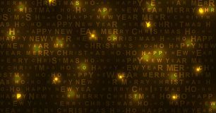 New Year and Christmas shiny glowing background royalty free illustration