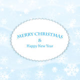 New Year and Christmas snow background Stock Image