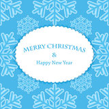 New Year and Christmas snow background Royalty Free Stock Photography