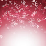 New year christmas snow red card Stock Image