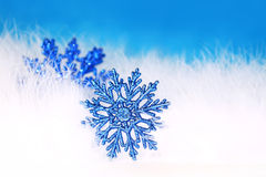 New year or christmas snowflake Stock Images