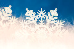 New year or christmas snowflake background Royalty Free Stock Photography