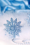 New year or christmas snowflake background Stock Photos