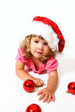New Year or Christmas sweet baby  Royalty Free Stock Photo