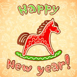 New year and christmas sweet horse Stock Photos