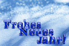 New Year Christmas Text On German Language. On Snow Royalty Free Stock Photo