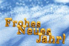 New Year Christmas Text On German Language. On Snow Stock Image