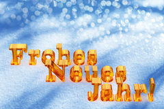 New Year Christmas Text On German Language. On Snow Royalty Free Stock Images