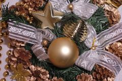 New year and Christmas toys Stock Images