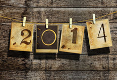 New year 2014. And christmas 2014 vintage style Royalty Free Stock Photo