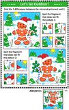 Winter holidays picture puzzles with ginger man Stock Photography