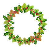 New year and christmas wreath Royalty Free Stock Image