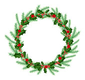 New year and christmas wreath Stock Photography