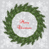 New year and Christmas wreath. Decoration. Vector Stock Photo