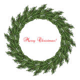 New year and Christmas wreath. Decoration. Vector Royalty Free Stock Photo