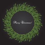 New year and Christmas wreath. Decoration. Vector Royalty Free Stock Photography