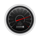 New Year Classic Speedometer on white royalty free stock images