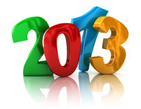 New Year 2013 (clipping path included). New Year 2013. Image with clipping path Royalty Free Stock Photo