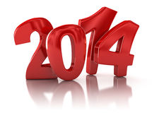 New Year 2014 (clipping path included). New Year 2014. Image with clipping path Stock Images