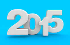 New Year 2015 (clipping path included). New Year 2015. Image with clipping path Royalty Free Stock Photos