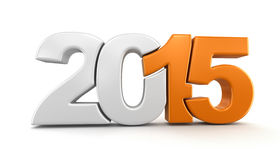 New Year 2015 (clipping path included) Stock Photos