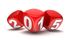 New Year 2015 (clipping path included) Royalty Free Stock Photography