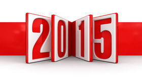 New Year 2015 (clipping path included) Royalty Free Stock Photos