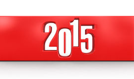 New Year 2015 (clipping path included) Royalty Free Stock Image