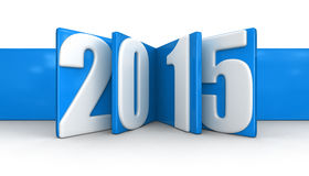 New Year 2015 (clipping path included) Royalty Free Stock Photo